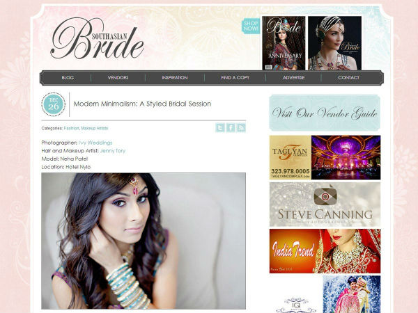 Featured on South Asian Bride Magazine